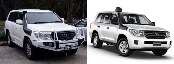 Ironman 4x4 Snorkel compared Toyota Factory Snorkel