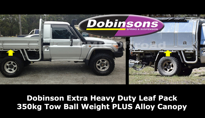 Dobinsons Suspension - Leaf Spring Upgrade 350kg Tow Ball Weight - Crookhaven Mechanical